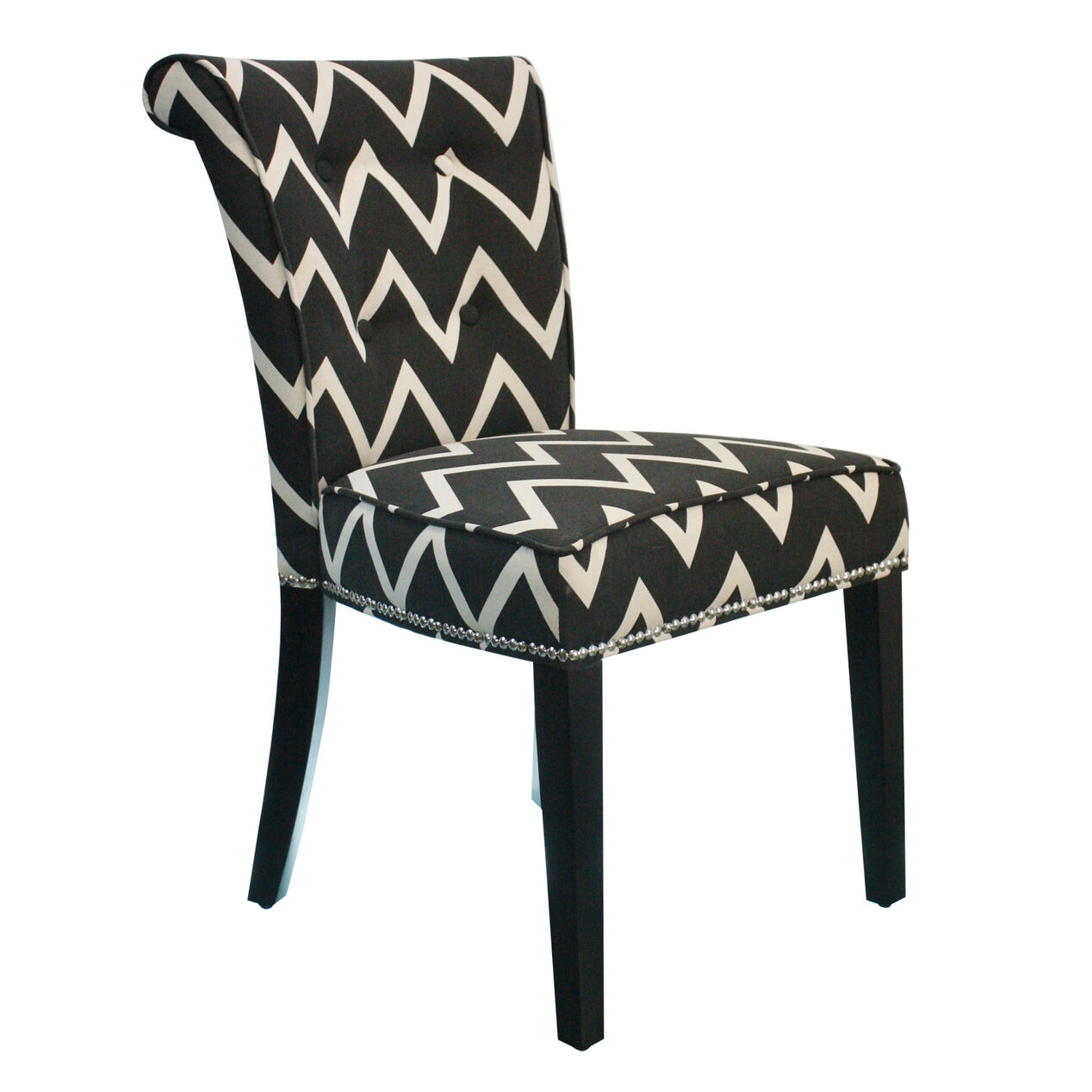 Black chair and white chair - Black And White Chevron Dining Chair