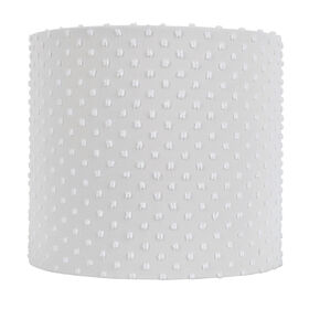 Picture of White Chenille Dot Lamp Shade 10 X 10 X 9