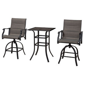 Malibu Bistro 3 Piece Chair and High Table Set