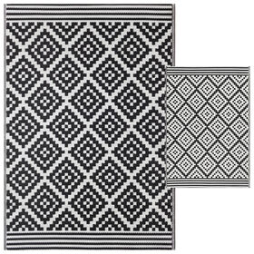 Picture of Black Aztec Woven Area Rug 5X7