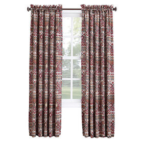Picture of Brick Aztec Pole Top Curtains - 84 in.