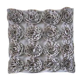 Picture of Velvet Roses Pillow- Taupe 16-in
