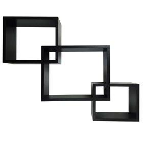 Picture of Black Staggered Interlocking Cubes- Set of 3