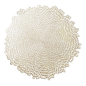 Picture of Bloom Vinyl Gold Round Placemat 15.5 in.