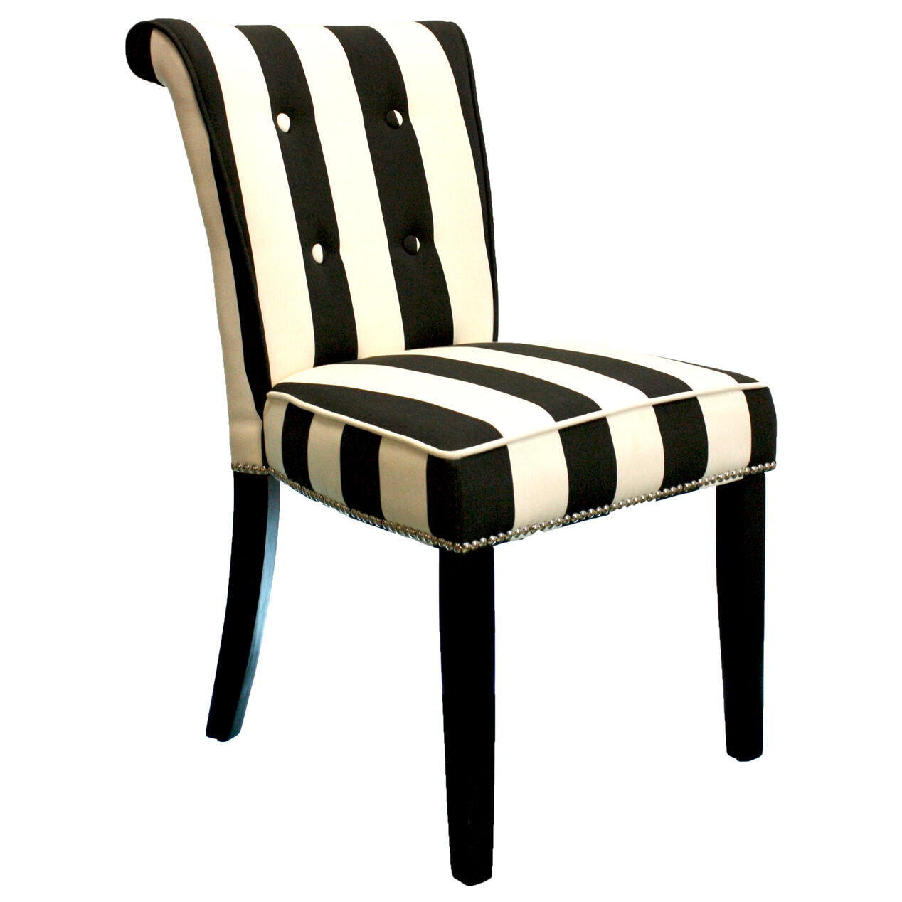 Anneau Dining Chair Black White Stripe At Home