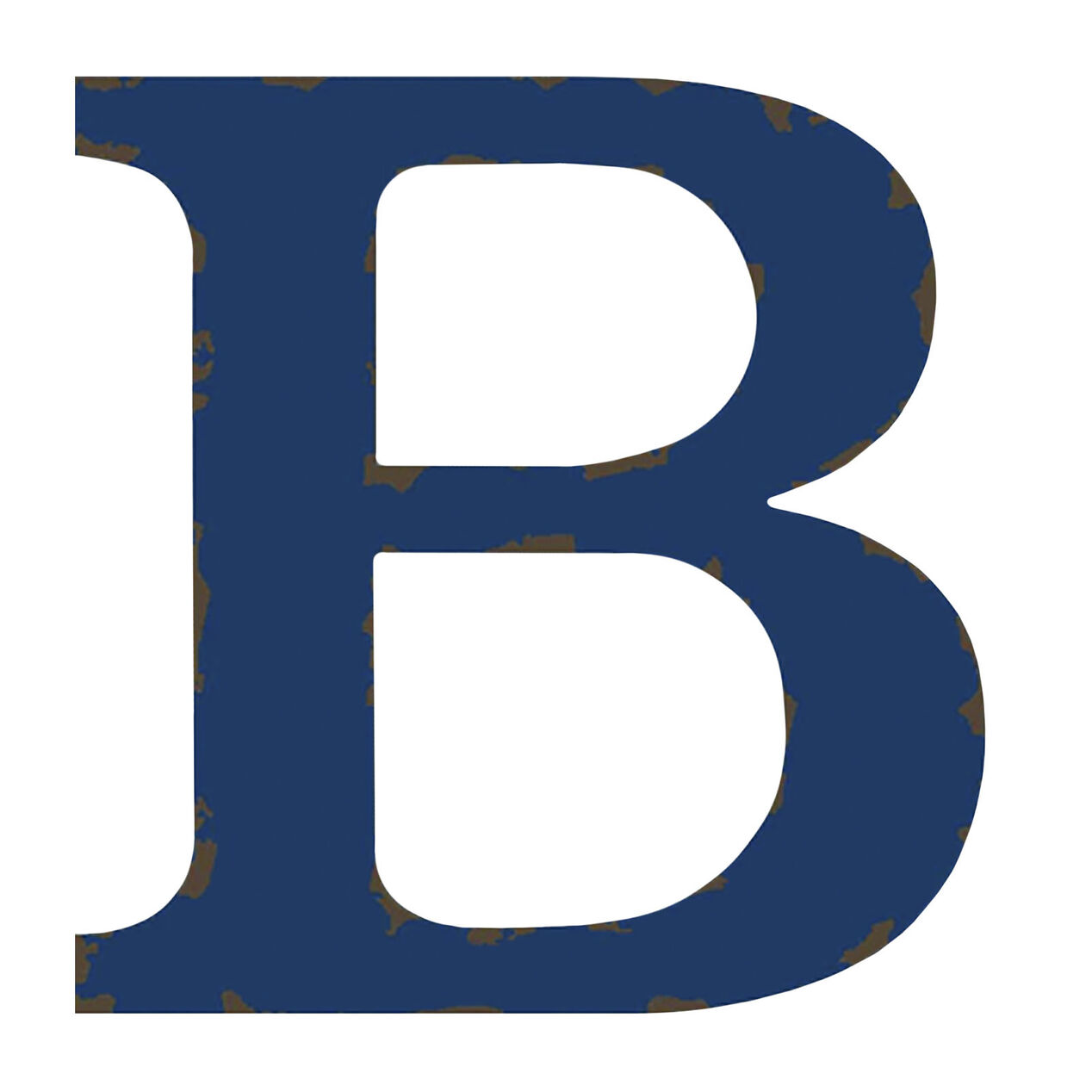 Distressed Blue Letter B 12 In At Home