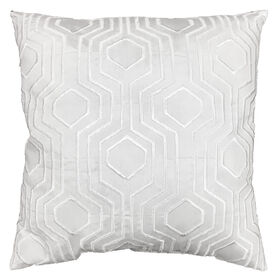 Picture of White Embossed Pillow - 18in
