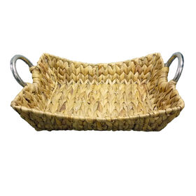 Picture of Woven Tray with Metal Handles 14-in
