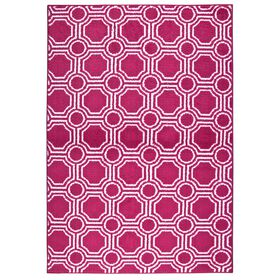 Picture of D113 Pink and White Mosaic Rug- 5x7 ft
