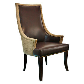 Picture of Chatham Chair - Brown, Leather, Burlap