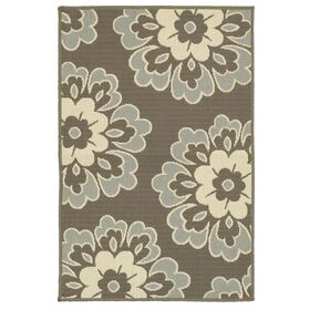 Picture of Blue and Green Floral Utility Rug 29 X 45-in