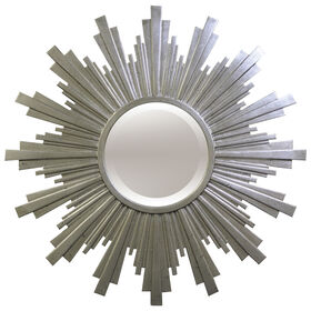 Picture of 43-in Round Silver Starburst Beveled Mirror