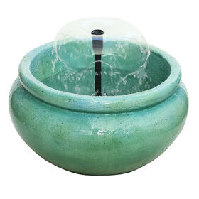 Picture of CERAMIC ROUND  BLUE  FOUNTAIN
