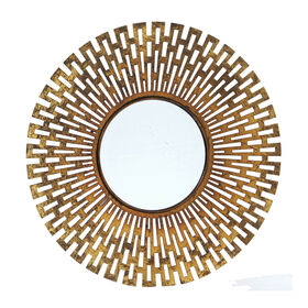 Picture of 27 X 27-in Gold Geometric Sunburst Mirror