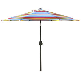Picture of 7.5ft. Crank Tilt Umbrella, Bright Stripe