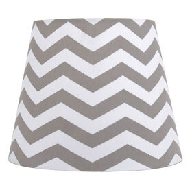 Picture of Gray Chevron Print Lamp Shade 7X10X8