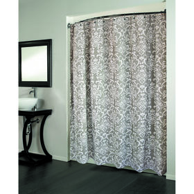 Picture of Medallion Gray Cotton Shower Curtain