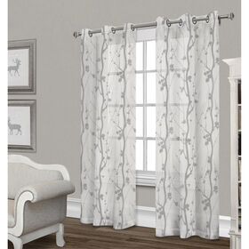 Picture of Corfu Sheer Curtain Panel- Dove Gray 84-in