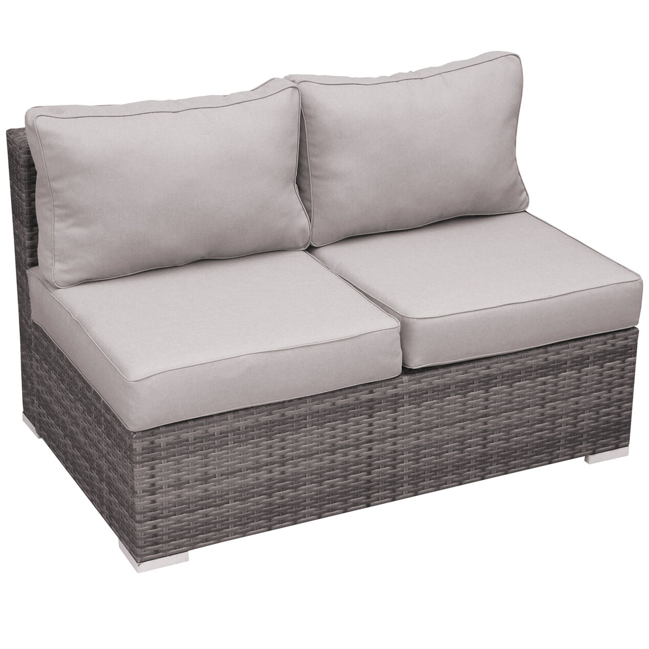 Grey Weston Outdoor Wicker Loveseat At Home