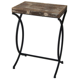 Picture of Rustic Wood & Metal Table 24-in