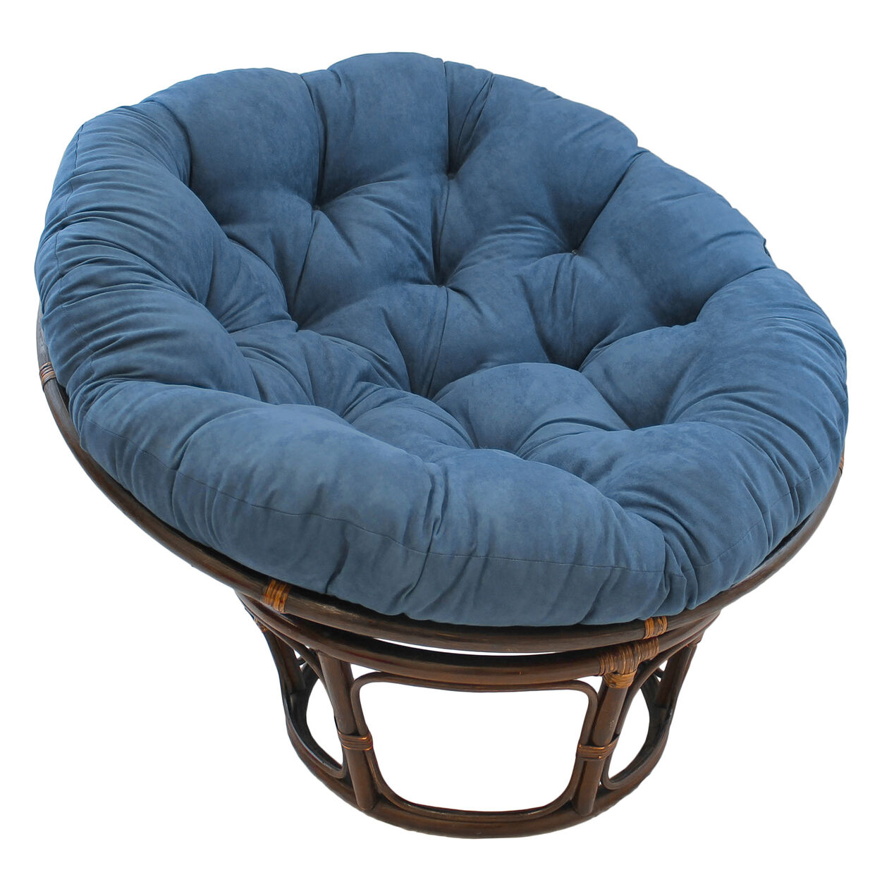 Indigo Suede Papasan Chair Cushion Base And Bowl Sold