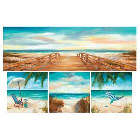Picture of 36 X 24-in Relaxing Beach Coastal Studio Art- 4 Piece