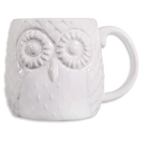 Picture of White Embossed Owl Mug- 20oz