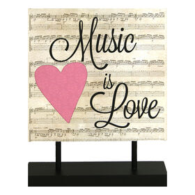 Picture of 8X10 MUSIC IS LOVE STAND SIGN