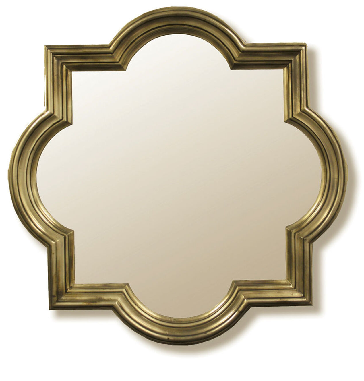 champagne quartrefoil mirror 40 x 40 at home. Black Bedroom Furniture Sets. Home Design Ideas