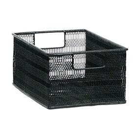 Picture of Black Rectangular Metal Mesh Storage Basket - Small