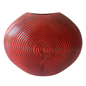 Picture of Red Oval Bali Cherry Vase- 12 x 9-in
