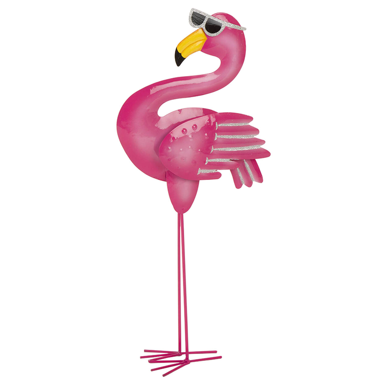 23 8 Standing Flamingo Glasses At Home