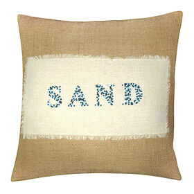 Picture of 18X18 Beaded Burlap Pillow