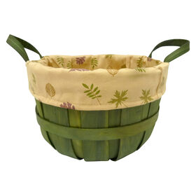 Picture of 10in Fall Leaf Basket - Green