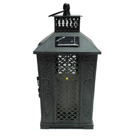 Picture of Metal Cutout Lantern- 13-in