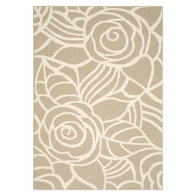 D198 Tan and Ivory Rhapsody Rug- 8x10 ft