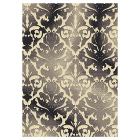 Picture of B323 Grey and Cream Damask Rug