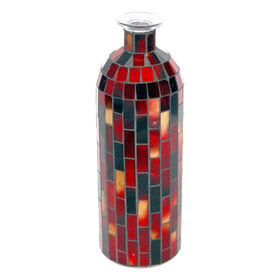 Picture of Red Mosaic Bottle 4x10.5-in