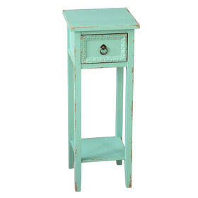 Picture of Wood Telephone Table - Turquoise