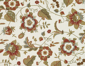 Picture of A29 Ivory and Olive Floral Rug