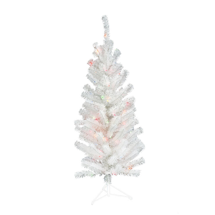 s2 4 ft lit white christmas tree with 110 tips and multi