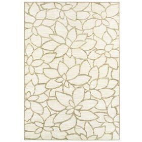 Picture of Grey Floral Silhouette Rug