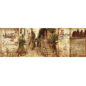 Picture of 38 X 14-in Tuscan Courtyard Art