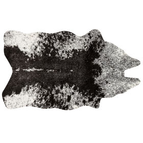 Picture of B24 Ivory and Charcoal Faux Cowhide Rug- 3x5 ft