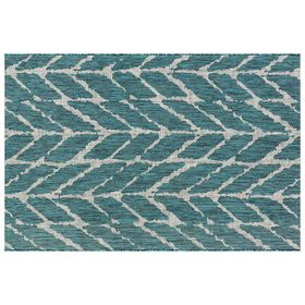 Picture of E163 Blue Textured Rug