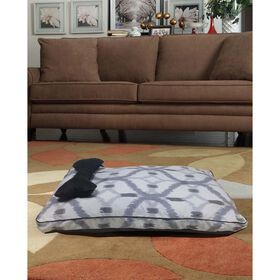 Picture of Black and Gray Dog Bone Pet Bed -  30X18