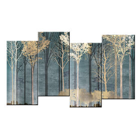 Picture of 48 X 24-in Staggered Neutral Trees Studio Art