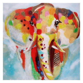 Picture of 50 x 50 Elephant Print on Canvas