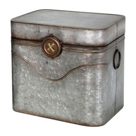 Picture of Galvanized Metal Button Trunk 16-in