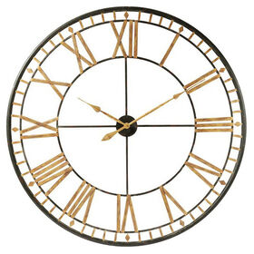 Picture of 46-in Gold and Black Giant Numbered Clock
